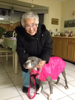 Sister Veronica Mendez and Remy the dog