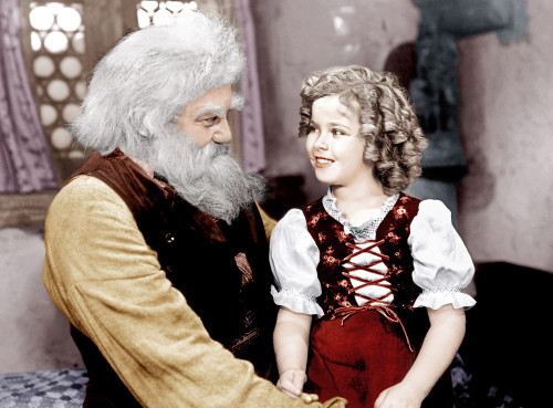 "Jean Hersholt and Shirley Temple in 1937's ""Heidi."""