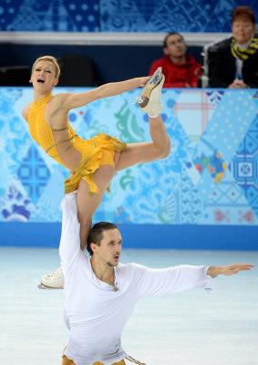 Russia's Tatiana Volosozhar and Russia's Maxim Trankov