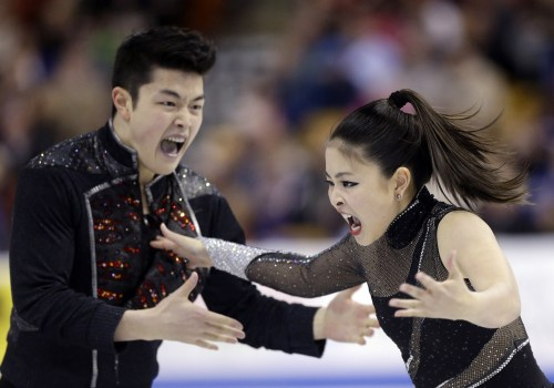 Maia Shibutani and Alex Shibutani compete during the ice dance free skate at the U.S. Figure Skating Championships Saturday, Jan. 11, 2014 in Boston. ...