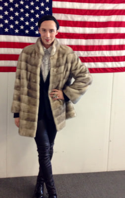 Johnny Weir in his Russian fur coat