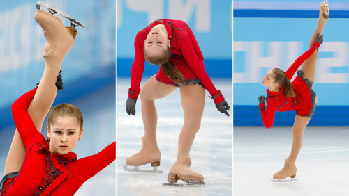 Yulia Lipnitskaya of Russia performs during the Womens Free Skating of the Figure Skating team event at the Iceberg Skating Palace during the Sochi 2...