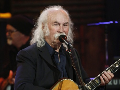 "David Crosby, performing on ""Late Night with Jimmy Fallon"" in January."