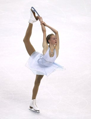 Polina Edmunds competes during the women's free skate at the U.S. Figure Skating Championships in Boston, Saturday, Jan. 11, 2014. (AP Photo/Elise Ame...