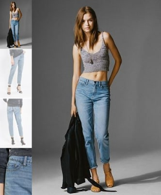"Funny, she doesn't look that maternal. ""The Mom Jean,"" available at Urban Outfitter for $59."