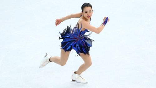 SOCHI, RUSSIA - FEBRUARY 20:  Mao Asada of Japan competes in the Figure Skating Ladies' Free Skating on day 13 of the Sochi 2014 Winter Olympics at Ic...