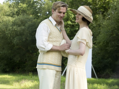 Matthew and Mary in Downton Abbey
