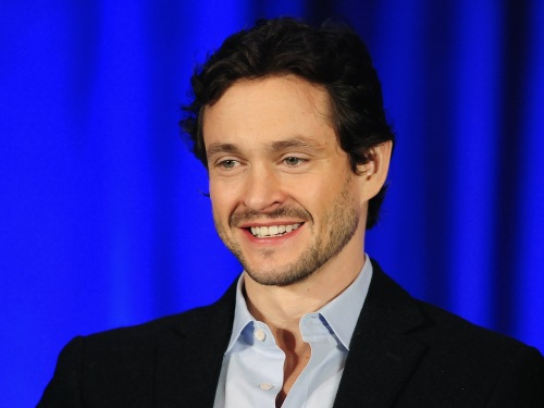 "British actor Hugh Dancy from the NBC series ""Hannibal"" takes part in a panel discussion in Los Angeles."