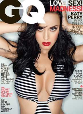 Katy Perry on GQ's cover.