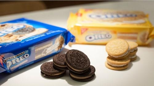 Cookie dough and marshmallow crispy Oreos