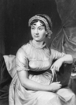English novelist Jane Austen from an original family portrait.   (Photo by Hulton Archive/Getty Images)
