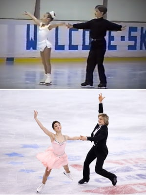 Then and now: Charlie and Meryl have skated together since they were 8 years old.    BOSTON, MA - JANUARY 10:  Meryl Davis and Charlie White skate in the short dance program during the 2014 Prudential U.S. Figure Skating Champ...