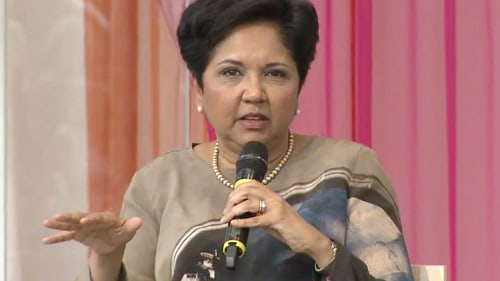 Indra Nooyi, CEO of PepsiCo, speaking out recently about how she juggles being a mom with being a chief exec.