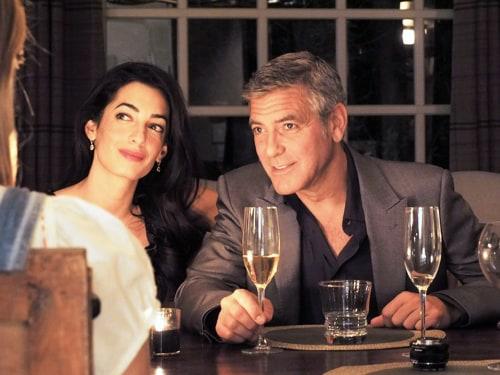 George Clooney and Amal Alamuddin in Santa Barbara, Calif.