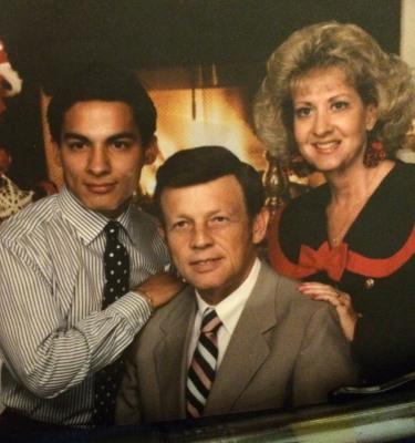 IMAGE: Cruz with Linda and Gale Hooper.