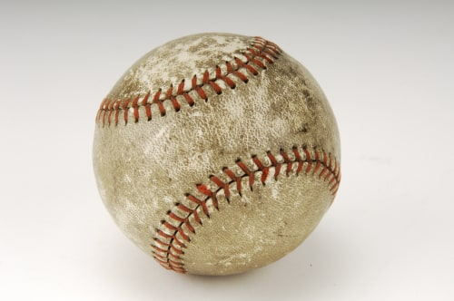 Image: The baseball Babe Ruth hit for his final career big league home run in 1935 is on display at the National Baseball Hall of Fame and Museum in Cooperstown, New York.