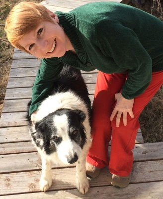 Harris with Border Collie