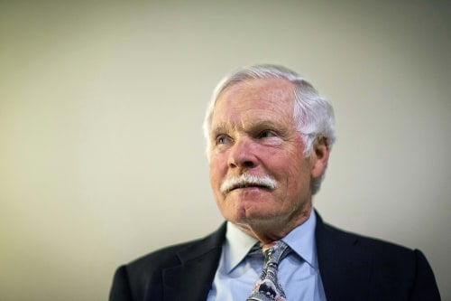 In this Friday, Dec. 6, 2013, photo, Ted Turner sits for a portrait in Atlanta. Turner told The Associated Press in a recent interview that when Turne...