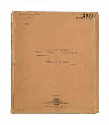 """An original """"Love Me Tender"""" script owned by Elvis Presley."""
