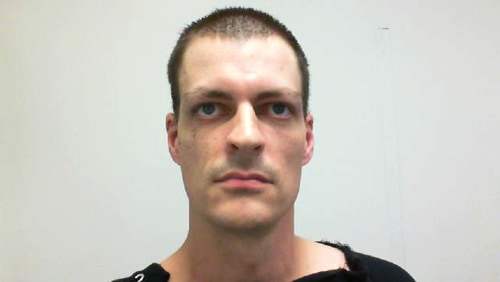 The police released this photo of Nathaniel Kibby on Monday afternoon, following his arrest.
