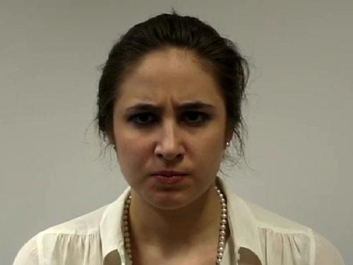 Image: woman scowling