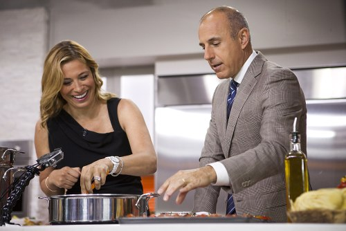 Matt learns to cook with Donatella Arpaia