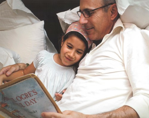 Image: Matt Lauer and his daughter, Romy