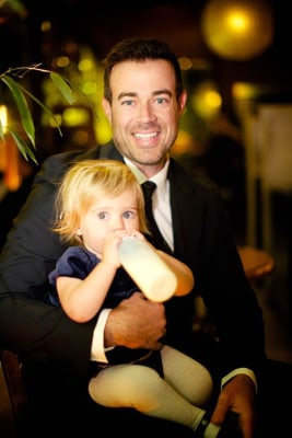 Image: Carson Daly holds his daughter, Etta.