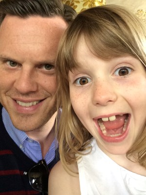 Image: Willie Geist and his daughter