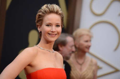 Cake might not have been on Jennifer Lawrence's mind on Sunday night.