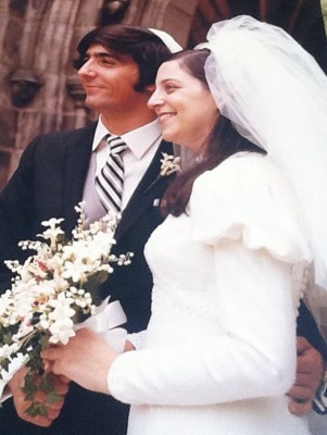 Image: Jacoba Urist's parents, Doris and Edward Zelinsky, at their wedding on June 6, 1971.