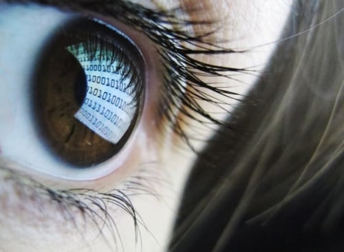 Computer screen in eye