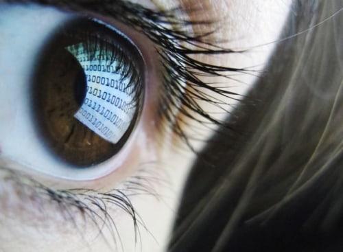 Computer screen in eye