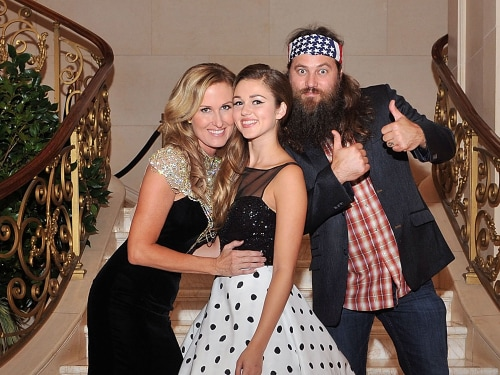 Image: Korie, Sadie and Willie Robertson