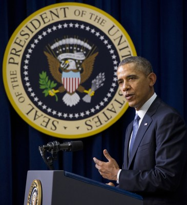 President Barack Obama, here at a film screening on Wednesday, didn't make Fortune's list.