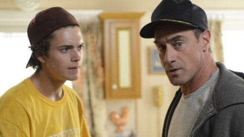 "Connor Buckley and Christopher Meloni play a father and son in Fox's new comedy ""Surviving Jack."""