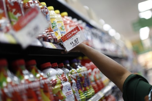Wal-Mart is in the middle of the pack for grocery prices, according to research  by Cheapism.com.