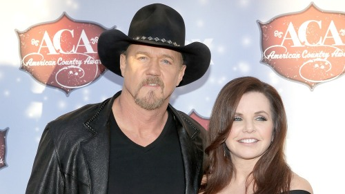 Trace Adkins with his soon-to-be-ex Rhonda Adkins in 2013.
