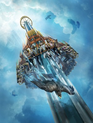 Image: This artist's rendering supplied by Busch Gardens shows Falcon's Fury, a new thrill ride opening May 1 at the theme park in Tampa, Fla.