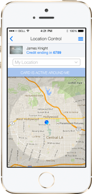 Using the location preference on the CardControl app, you can limit where card transactions can take place.