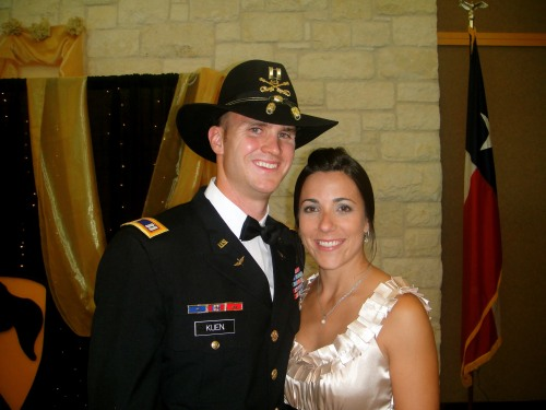 Lauren Keun, and her husband, Captain Andrew Keun, who has been active duty in the Army for 10 years.