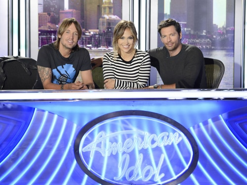 Image: Keith Urban, Jennifer Lopez, Harry Connick Jr.