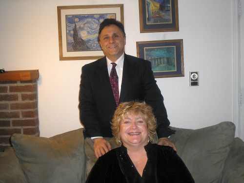 DeAngelis and his fiance, Diane.