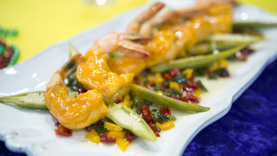 Shrimp And Tasso With Five Pepper Jelly Today Com