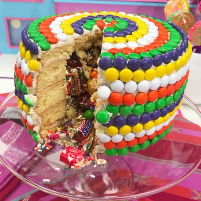 Fabulous Candy Pinata Cake Today Com Birthday Cards Printable Opercafe Filternl