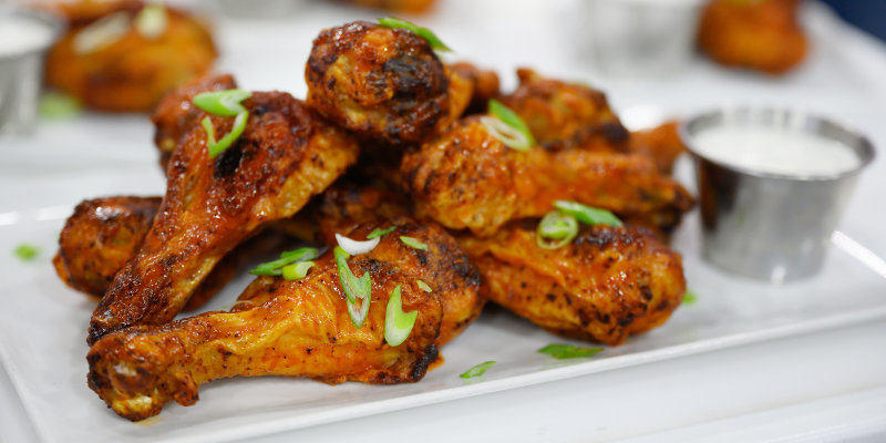 Roasted Spicy Buffalo Chicken Drumsticks Today Com