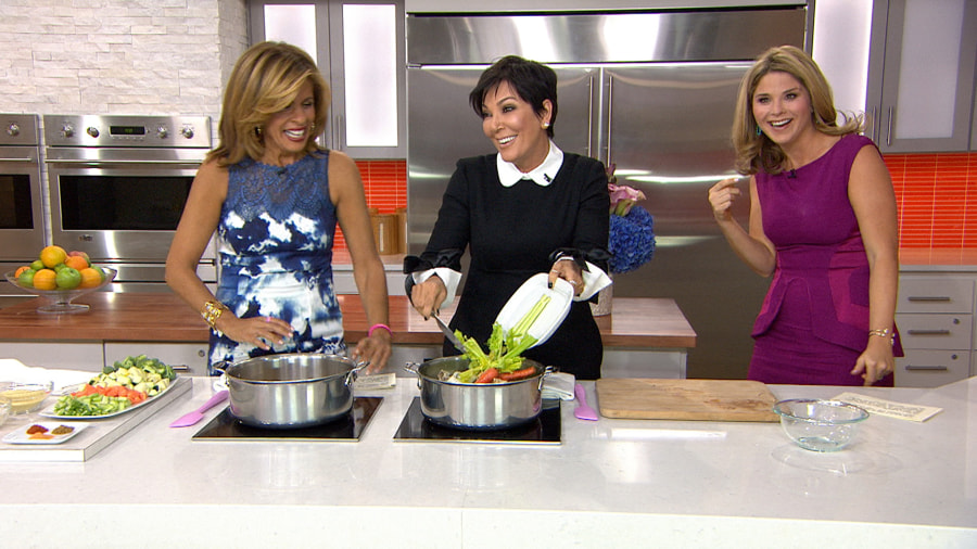 The Kitchen Show make kris jenner's comfort food dishes: chicken soup, pumpkin