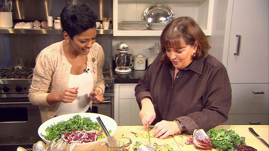 tamron cooks holiday meal with barefoot contessa - Cooking Contessa