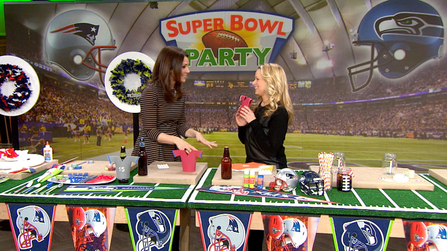 a diy crash course to help you throw the best super bowl party - Super Bowl Decorations