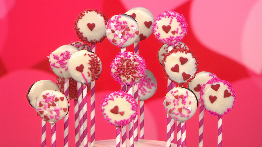 diy valentines day gifts oreo pops kiss canvas - Valentines Day Videos